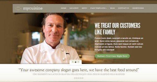 WordPress themes restaurants