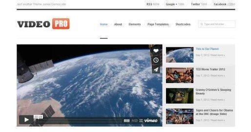 YouTube alike themes in WordPress
