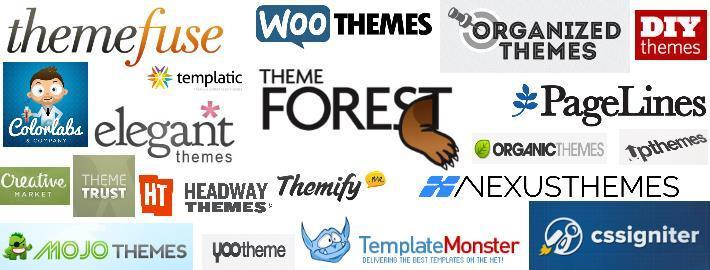 Websites om de beste WordPress themes te kopen