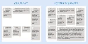 Masonry grid WordPress webdesign