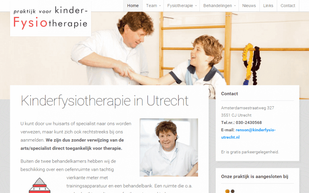 Fysiotherapie website WordPress