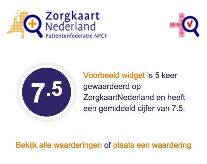 Zorgkaart Nederland WordPress