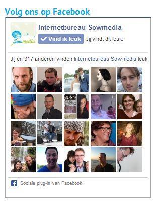 De Facebook likebox van Sowmedia