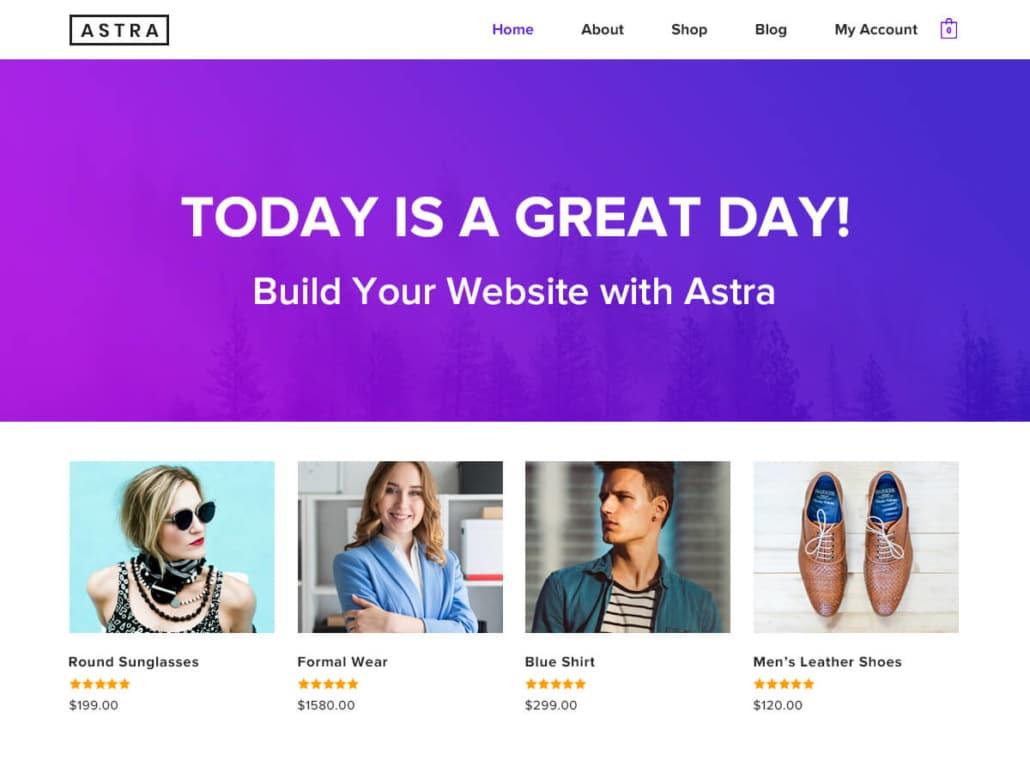 WordPress webshop theme: Astra